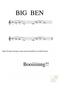 Bladmuziek/sheet music Big Ben (met mollen)