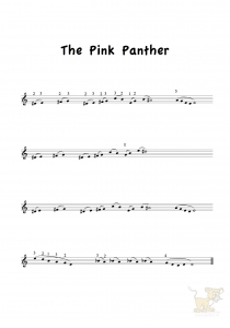 Bladmuziek/sheet music The Pink Panther - Henry Mancini