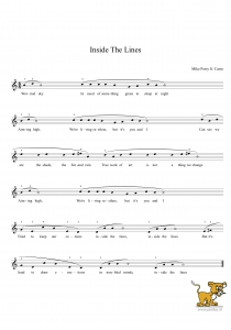 Bladmuziek/sheet music - Inside the lines - mike perry ft.casso